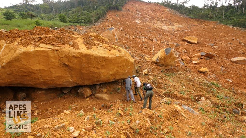 Bala Amarasekaran reviewing damage from 2017 landslide disaster