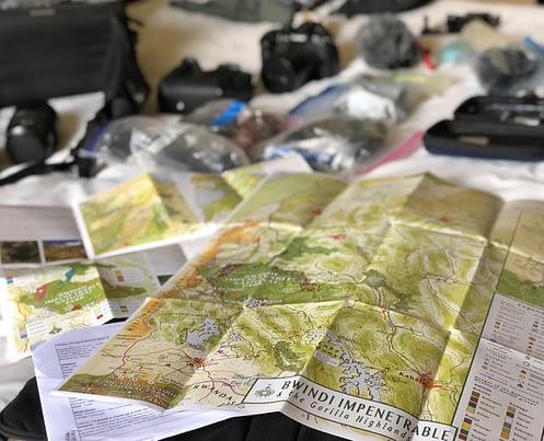 map Bwindi Impenetrable NP, Travel with GLOBIO