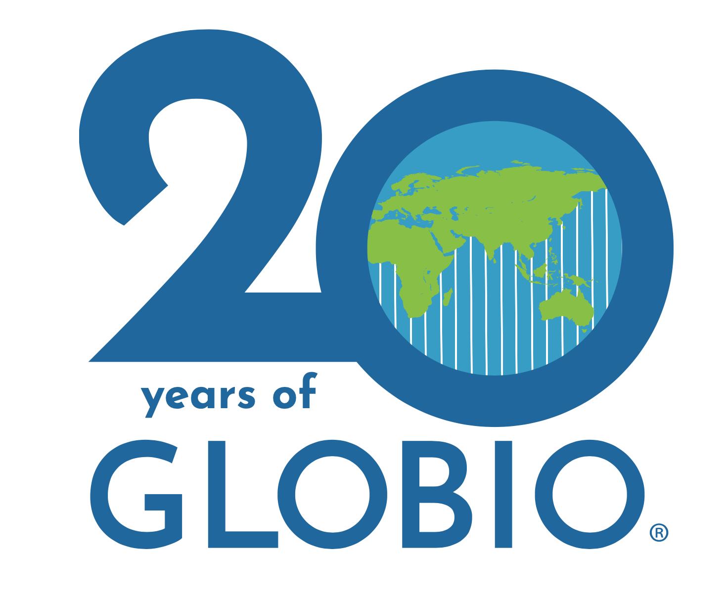 20 Years of GLOBIO Logo