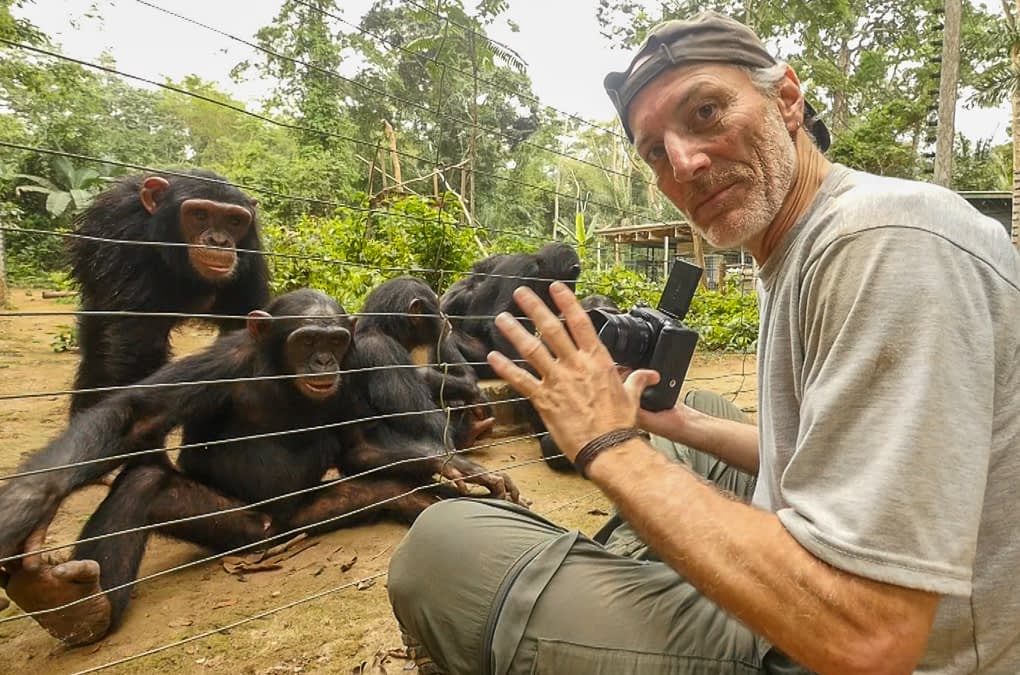 Gerry Ellis Chimpanzees in Africa with LUMIX at Pro Photo Supply