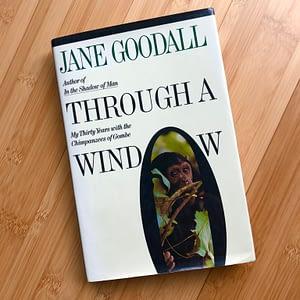 Jane Goodall book Through A Window